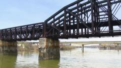 4K Railroad Bridge 4237 Stock Footage
