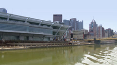 4K David L. Lawrence Convention Center 4233 Stock Footage