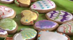 gingerbread cookies for Easter - stock footage