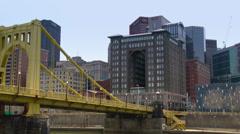 4K Pittsburgh Skyline in UltraHD 4228 Stock Footage