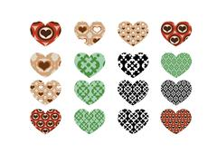 Heart abstract  icons signs and symbols set for your works Stock Illustration