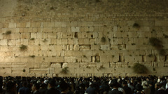 4K+HD Jews Pray at the Western Wall the night before  Priestly Blessing Stock Footage