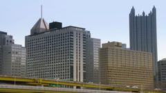 4K Pittsburgh Skyline in UltraHD 4243 Stock Footage