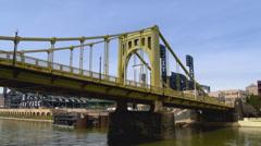 4K PNC Park and Roberto Clemente Bridge 4239 Stock Footage
