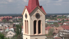 Church tower and clock Stock Footage
