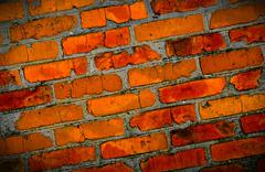 brickwork background - stock photo
