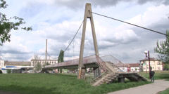 bridge on the dry ground - stock footage