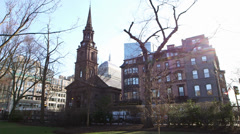 Boston Church Late Afternoon Stock Footage