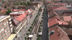 Town Square shot from above - stock footage