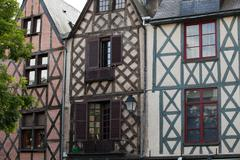 Half-timbered house in tours, loire valley, france Stock Photos