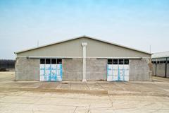 Warehouse exterior - stock photo