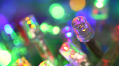Blinking multi coloured LED bulbs - stock footage