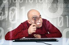 Binary search concept Stock Photos