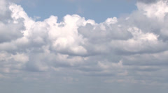blue sky background with white clouds moving - stock footage