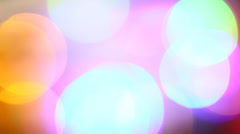 Blinking multi coloured LED bulbs Stock Footage