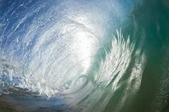 Wave Inside Hollow Water - stock photo