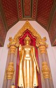 Golden buddha in thai temple,thailand. Stock Photos