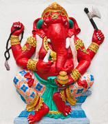 indian or hindu ganesha god named dhundhi ganapati at temple in thailand ;the - stock photo