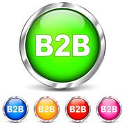 Vector b2b chrome icons Stock Illustration