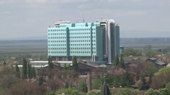 Modern hospital above Stock Footage
