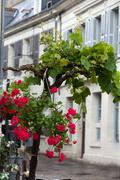 Romantic streets in french country towns in the valley of loire Stock Photos
