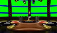 Entertainment 004 TV Studio Set - Virtual Green Screen Background PSD PSD Template