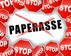 Stop paperwork french illustration Stock Illustration