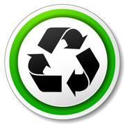 vector recycle symbol icon - stock illustration