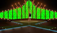 Entertainment 009 TV Studio Set - Virtual Green Screen Background PSD PSD Template