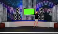 Entertainment 010 TV Studio Set - Virtual Green Screen Background PSD PSD Template