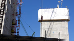 Tower block under construction in London Stock Footage