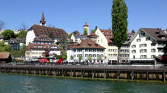 Old town of Lucerne Stock Footage