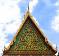 Roof gable in thai style. Stock Photos