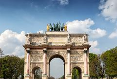 The arc de triomphe du carrousel located in the place du carrousel Stock Photos