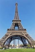 eiffel tower paris  in a sunny day - stock photo