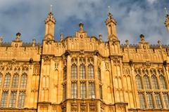 Close view from houses of british parliament Stock Photos