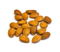 heap of almonds . - stock photo