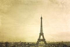 Vintage eiffel tower Stock Photos