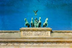 vintage brandenburg gate - stock photo