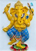 Indian or hindu ganesha god named naritaya ganapati at temple in thailand ;th Stock Photos