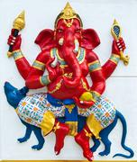 Indian or hindu ganesha god named vijaya ganapati at temple in thailand ;the  Stock Photos