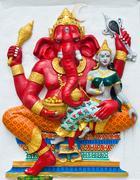 Indian or hindu ganesha god named vara ganapati at temple in thailand ;the co Stock Photos