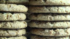 Oatmeal Cookies, Oats, Snacks Stock Footage