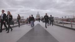Millenium Bridge Stock Footage