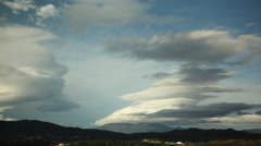 Time-lapse Lenticular Clouds beautiful ufo clouds time lapse, timelapse in hd Stock Footage