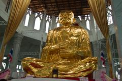 Golden buddha in thai temple,nakhonratchasima,thailand Stock Photos