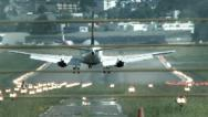 Stock Video Footage of airplane landing. airport runway. plane airline. transportation transit.