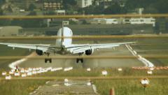 Airport runway. plane airline. transportation transit. Stock Footage