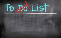 to do list concept - stock illustration