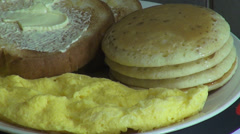 Eggs, Toast, Pancakes, Breakfast Foods, Meals Stock Footage
